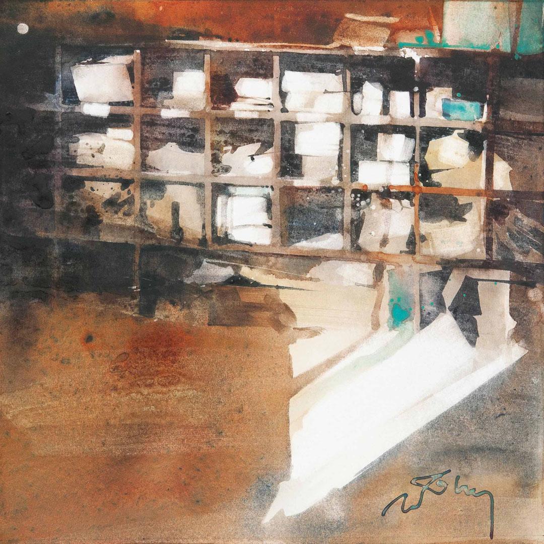 """BANCEL ETAGERE"" (24x24 cm)"